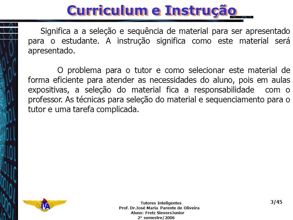 Curriculum e Instrução