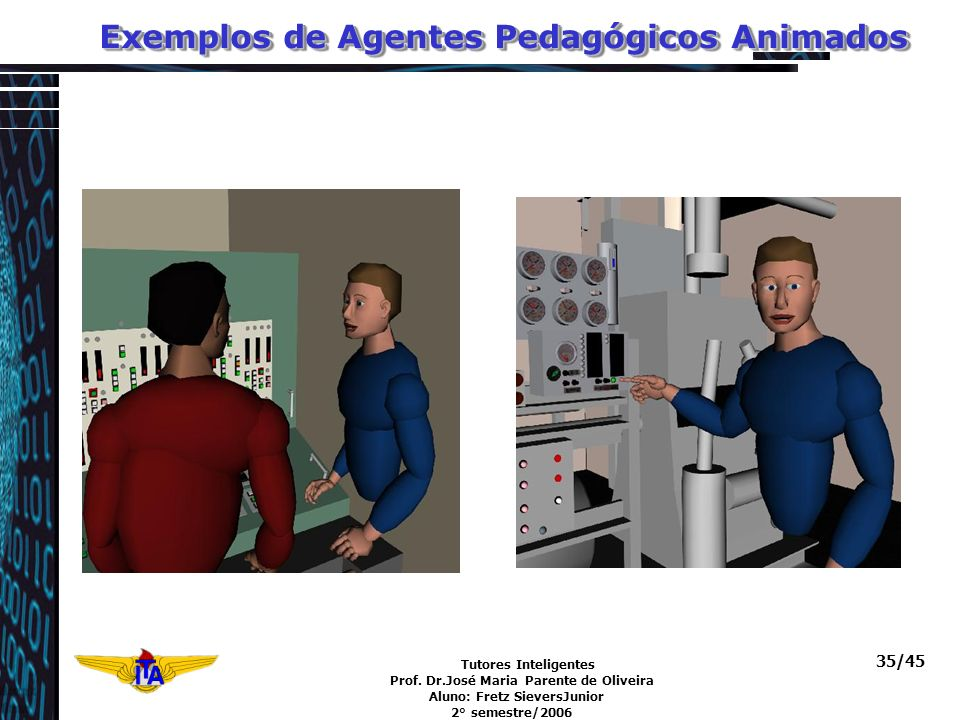 Exemplos de Agentes Pedagógicos Animados