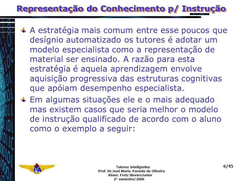 Representação do Conhecimento p/ Instrução