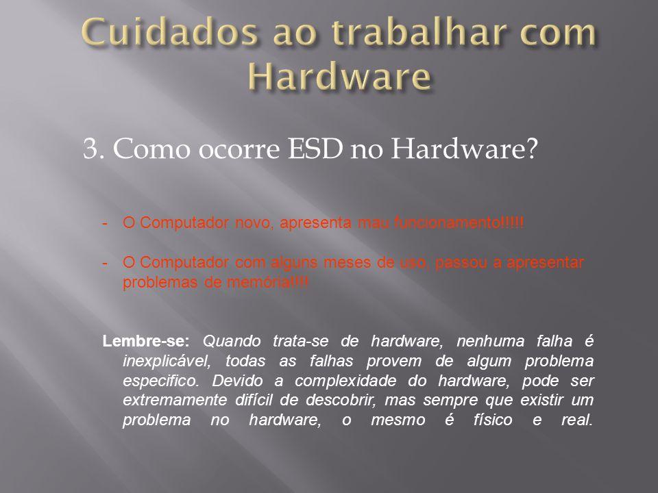 Cuidados ao trabalhar com Hardware