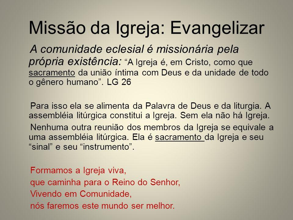 Missão da Igreja: Evangelizar