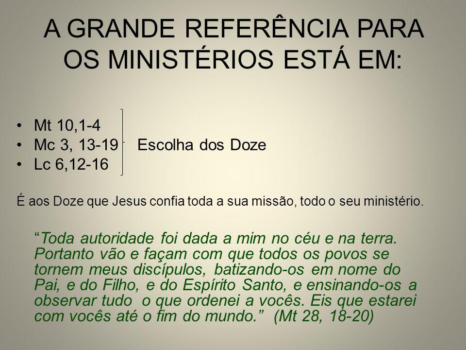 A GRANDE REFERÊNCIA PARA OS MINISTÉRIOS ESTÁ EM: