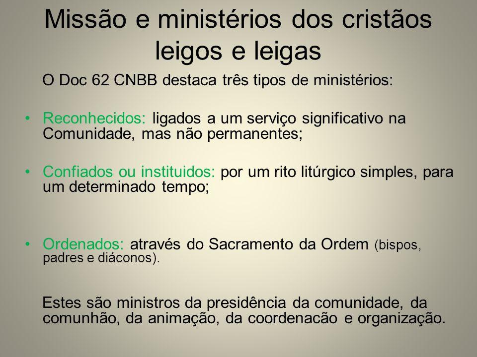 Missão e ministérios dos cristãos leigos e leigas