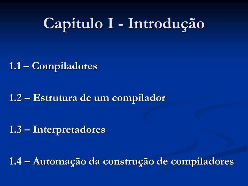 Capítulo I - Introdução