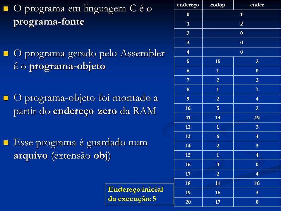 O programa em linguagem C é o programa-fonte