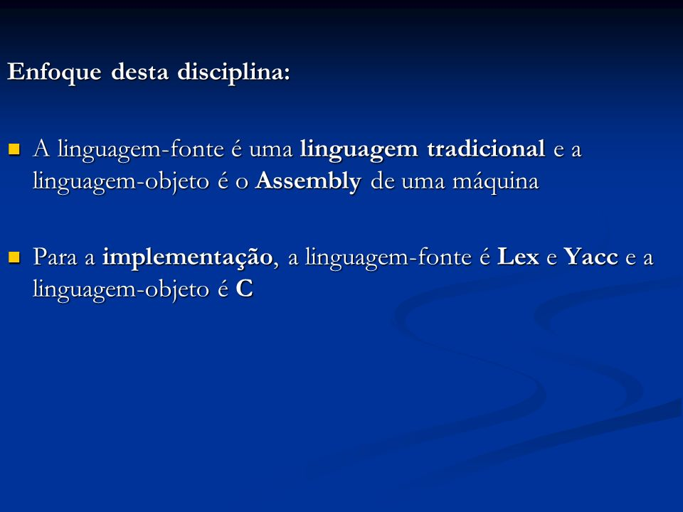 Enfoque desta disciplina: