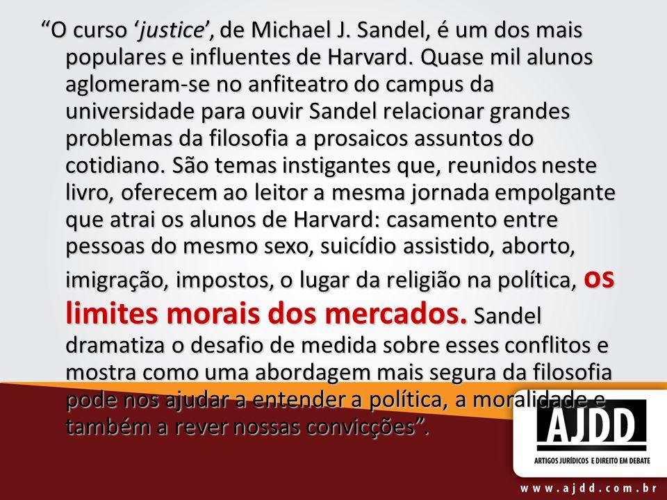 O curso 'justice', de Michael J