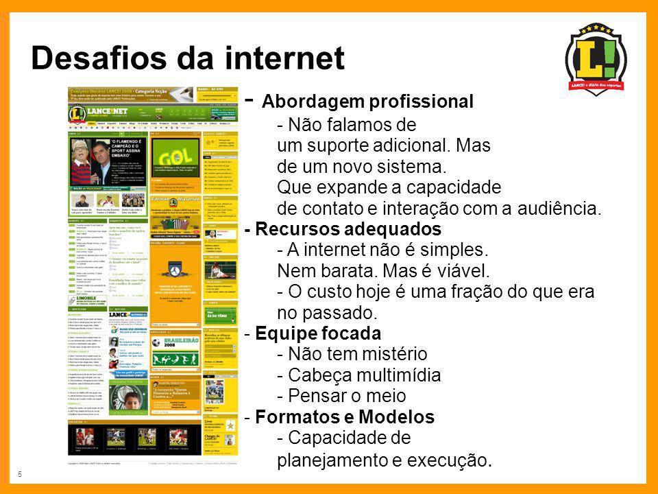 Desafios da internet Abordagem profissional