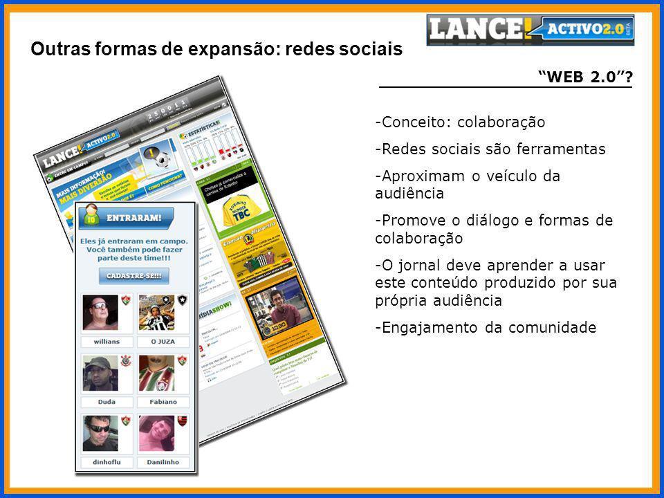 Outras formas de expansão: redes sociais
