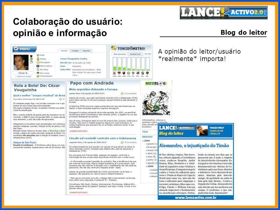 Colaboração do usuário: opinião e informação