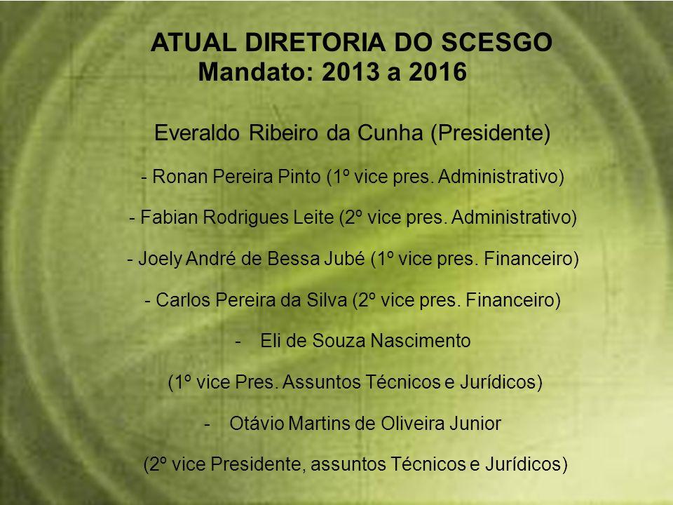 Mandato: 2013 a 2016 ATUAL DIRETORIA DO SCESGO