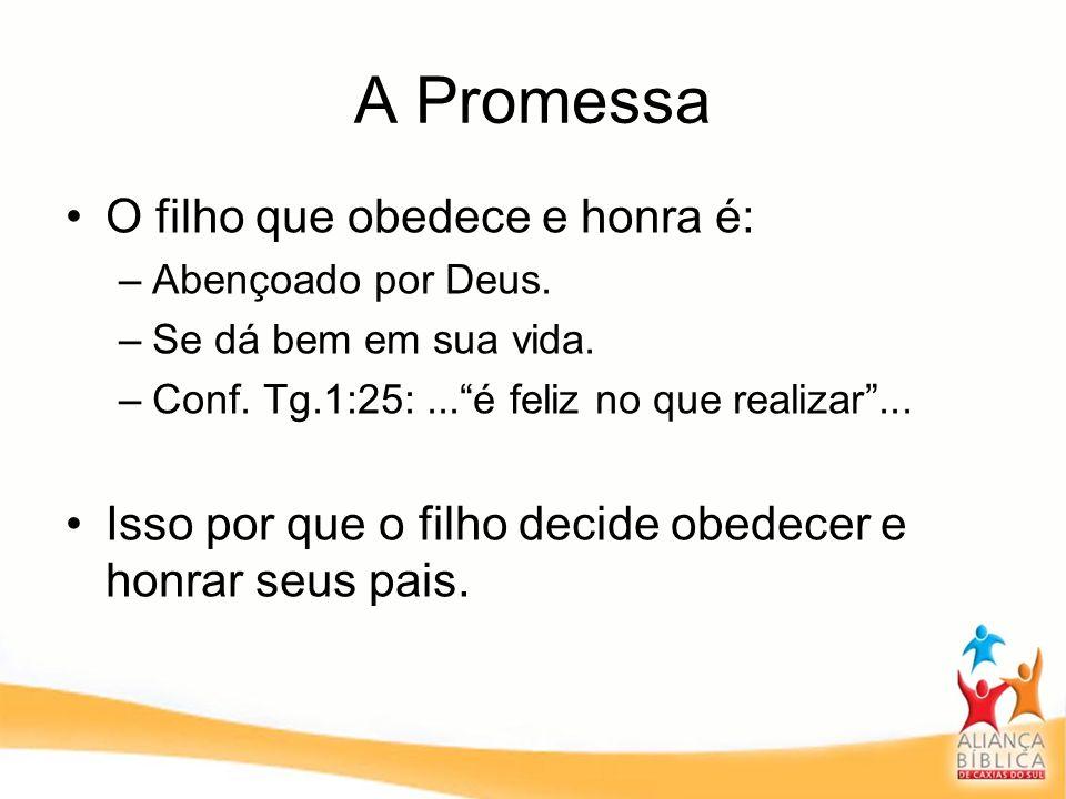 A Promessa O filho que obedece e honra é: