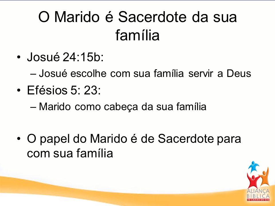 O Marido é Sacerdote da sua família