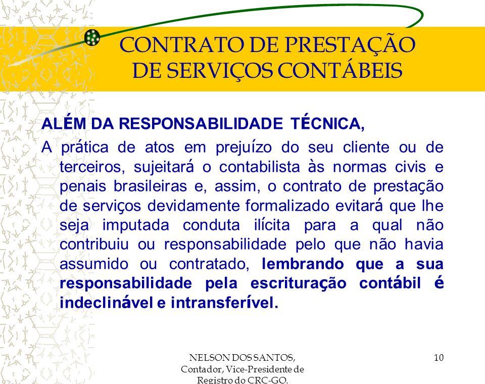 CONTRATO DE PRESTAÇÃO DE SERVIÇOS CONTÁBEIS