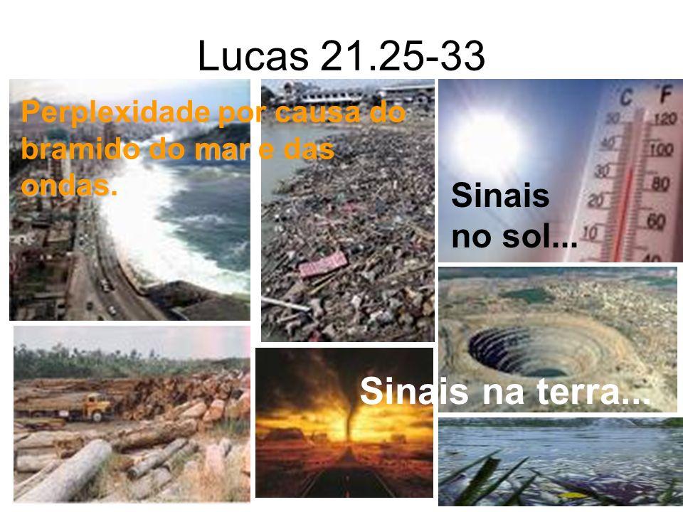 Lucas 21.25-33 Sinais na terra... Sinais no sol...