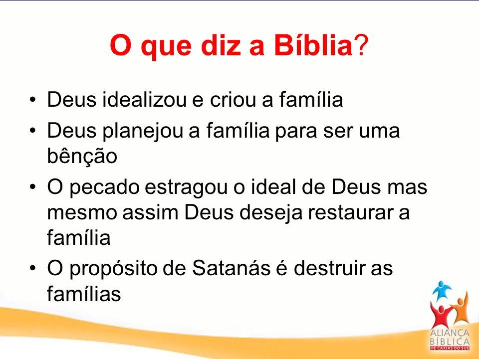 O que diz a Bíblia Deus idealizou e criou a família