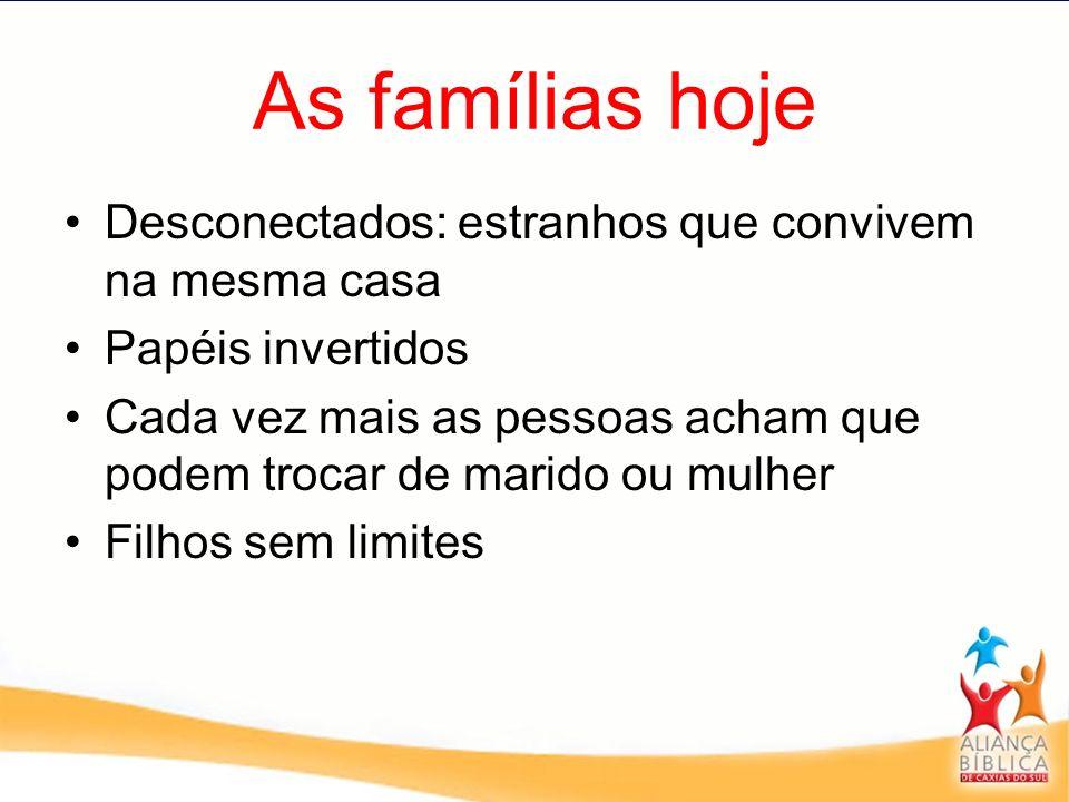 As famílias hoje Desconectados: estranhos que convivem na mesma casa