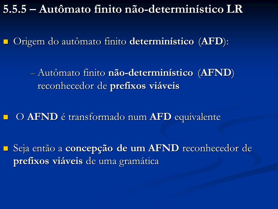 5.5.5 – Autômato finito não-determinístico LR