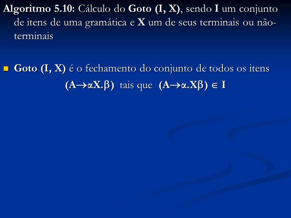 (AαX.) tais que (Aα.X)  I