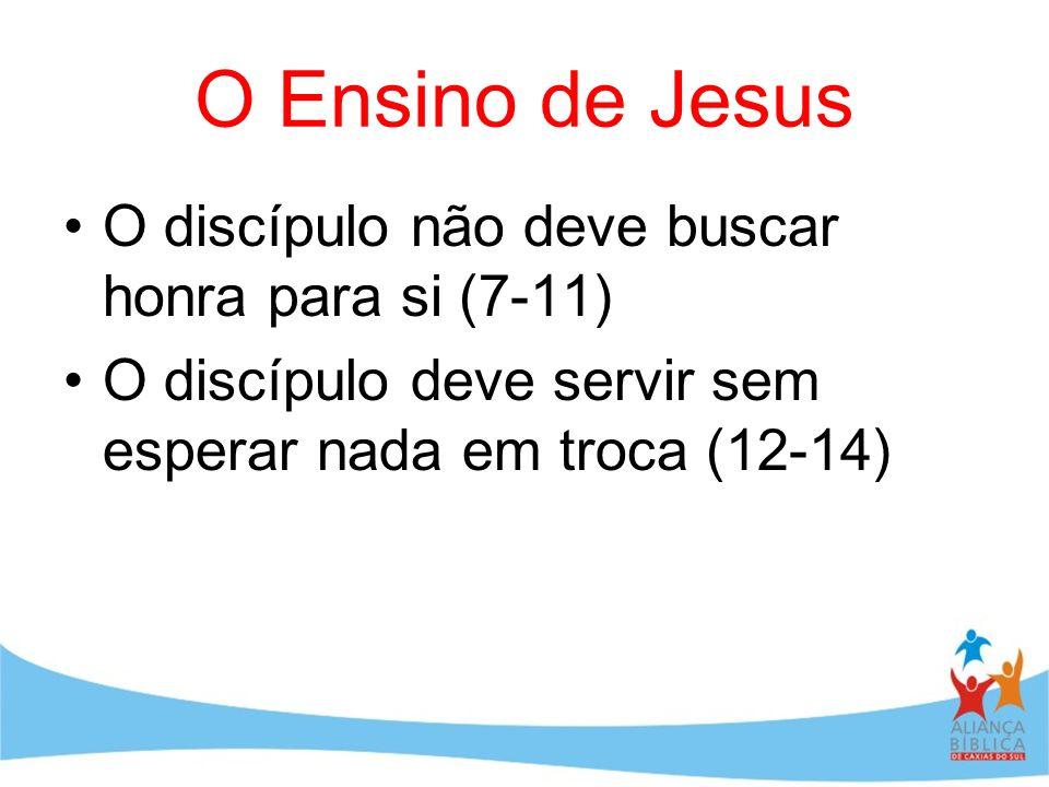 O Ensino de Jesus O discípulo não deve buscar honra para si (7-11)