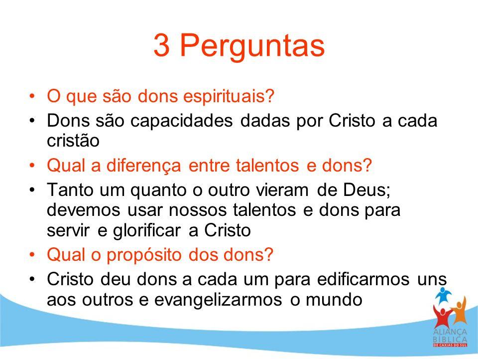 3 Perguntas O que são dons espirituais