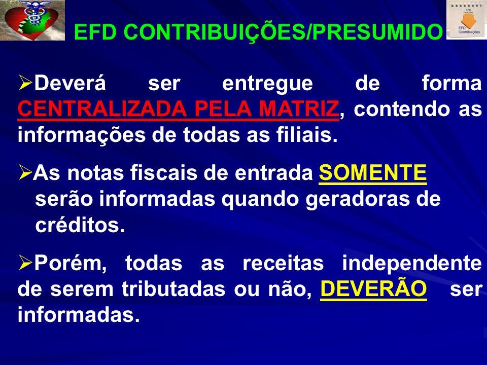 EFD CONTRIBUIÇÕES/PRESUMIDO