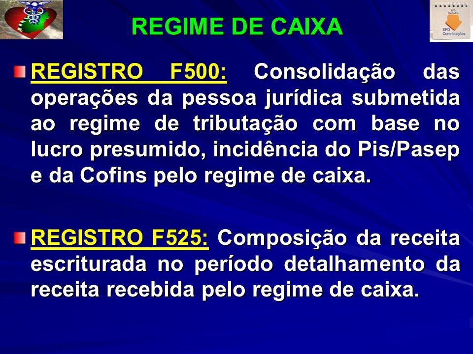 REGIME DE CAIXA