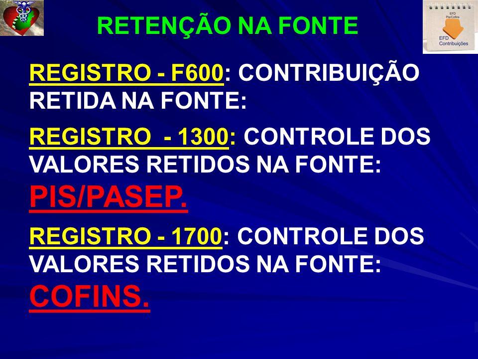 COFINS. RETENÇÃO NA FONTE
