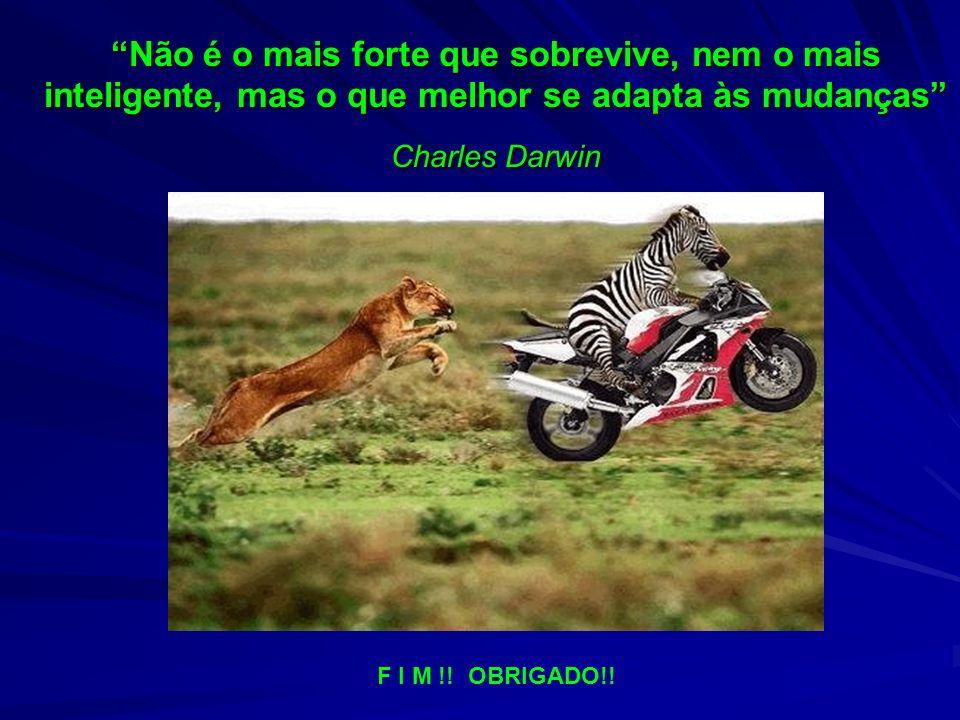 Não é o mais forte que sobrevive, nem o mais inteligente, mas o que melhor se adapta às mudanças Charles Darwin