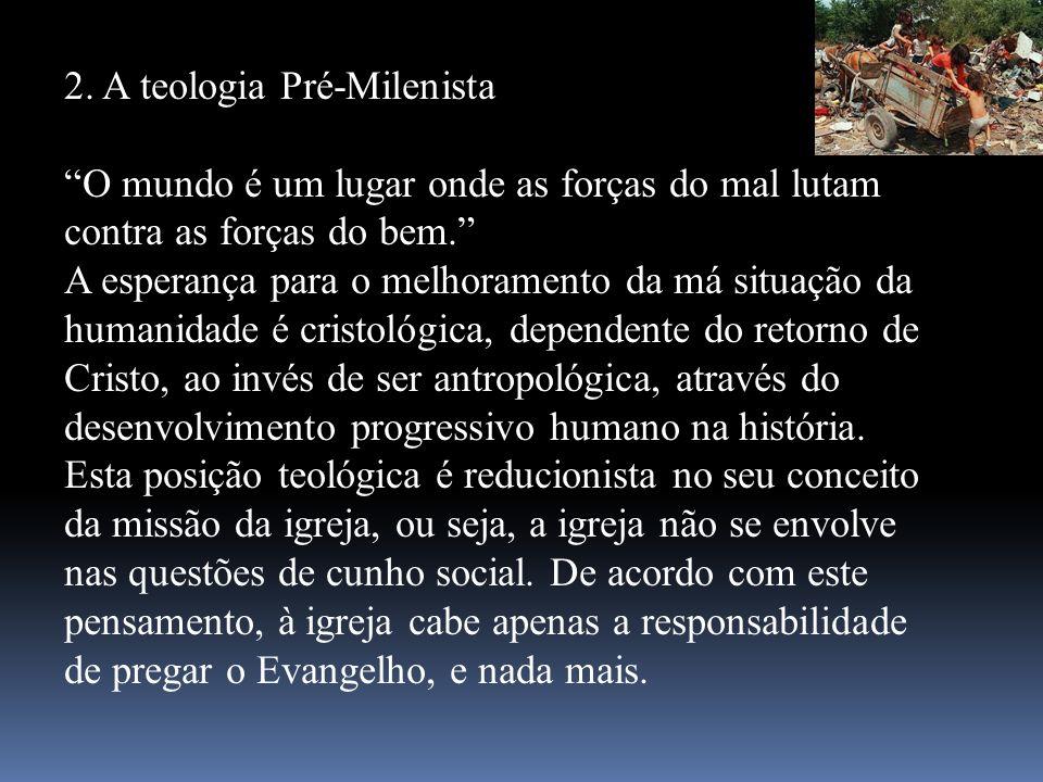 2. A teologia Pré-Milenista