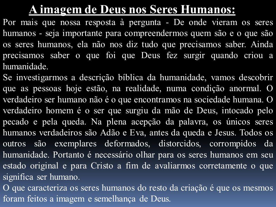 A imagem de Deus nos Seres Humanos: