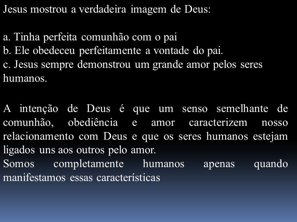 Jesus mostrou a verdadeira imagem de Deus: