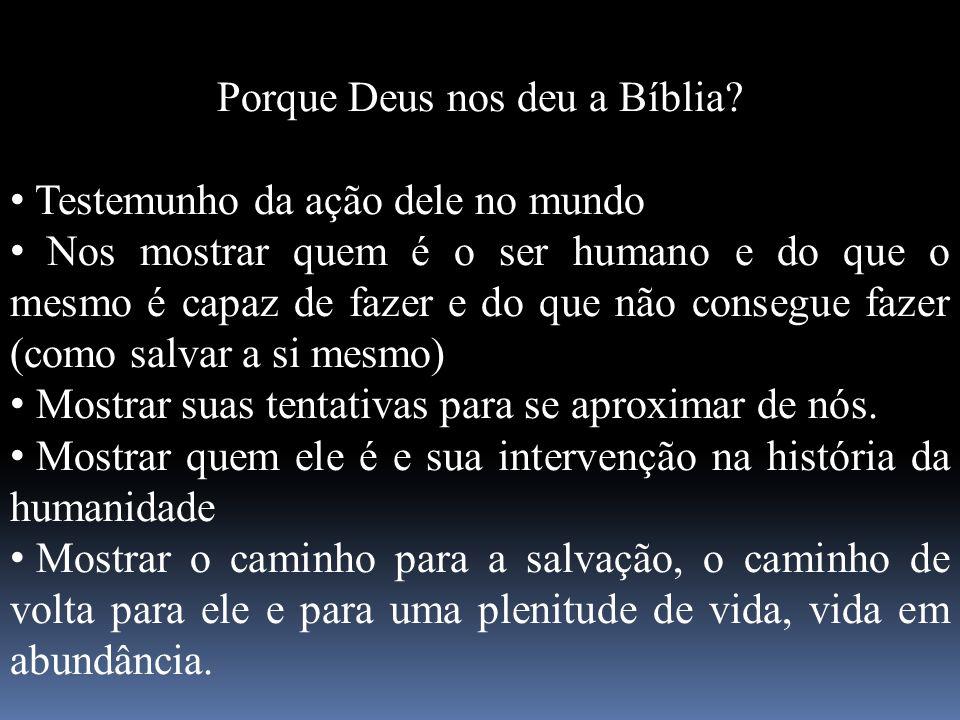 Porque Deus nos deu a Bíblia