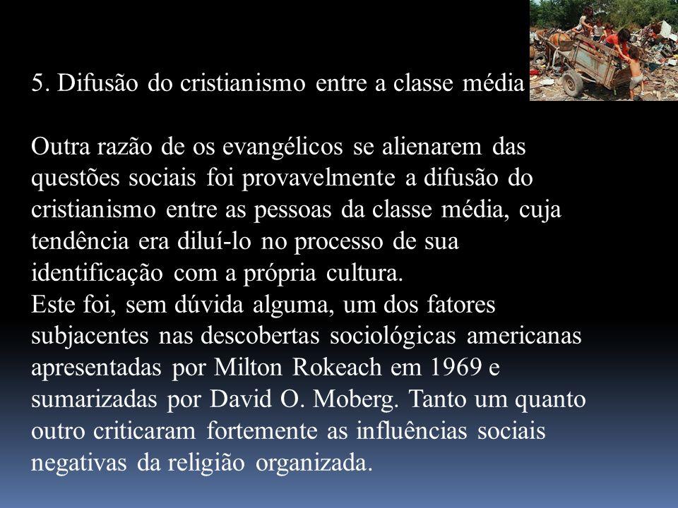 5. Difusão do cristianismo entre a classe média