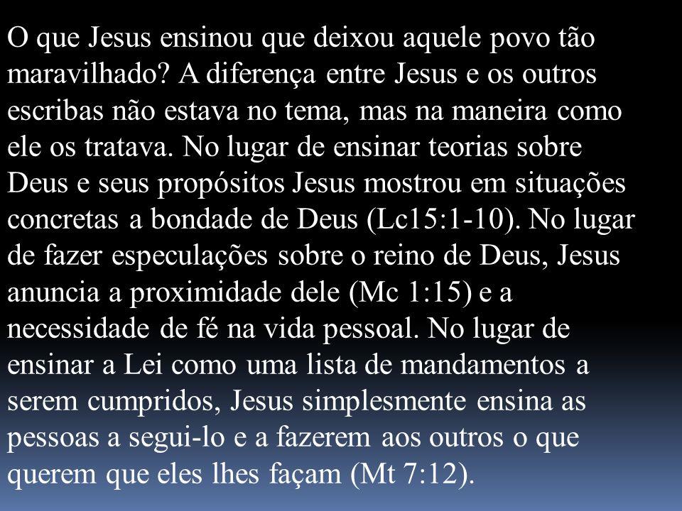 O que Jesus ensinou que deixou aquele povo tão maravilhado