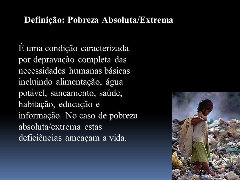 Definição: Pobreza Absoluta/Extrema