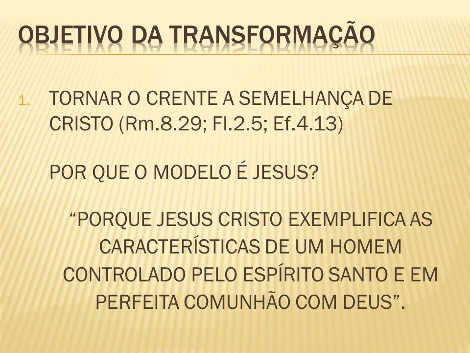 OBJETIVO DA TRANSFORMAÇÃO