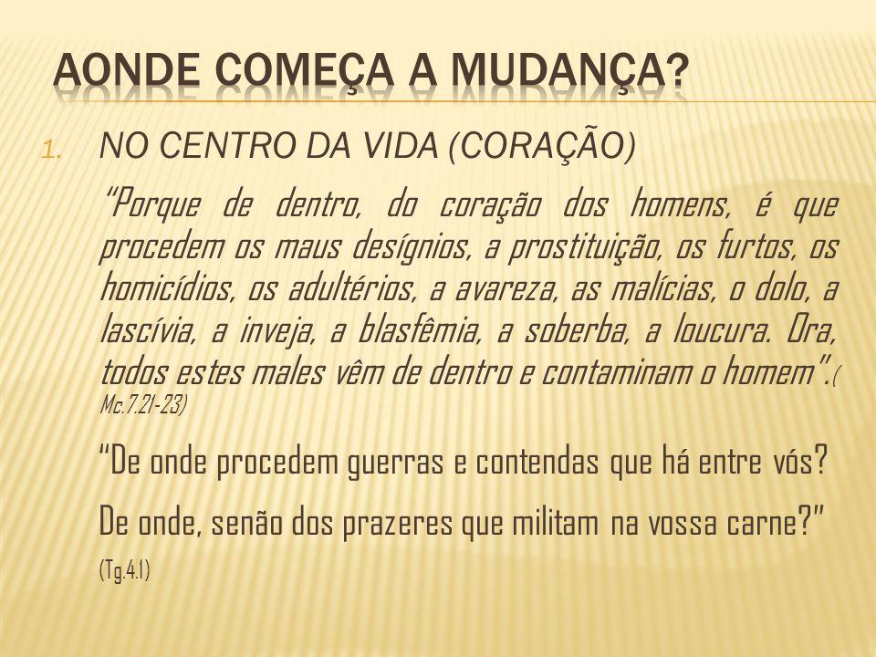 AONDE COMEÇA A MUDANÇA NO CENTRO DA VIDA (CORAÇÃO)