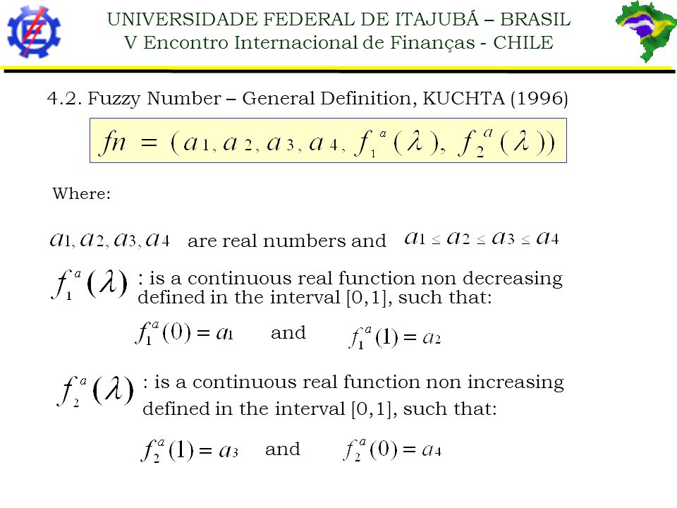 4.2. Fuzzy Number – General Definition, KUCHTA (1996)