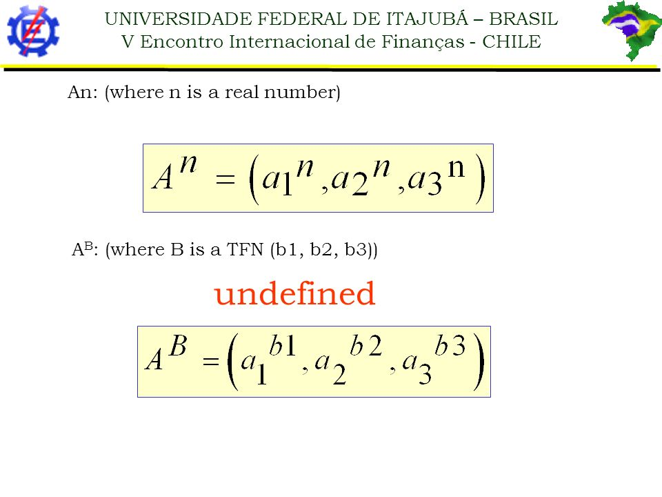 undefined An: (where n is a real number)
