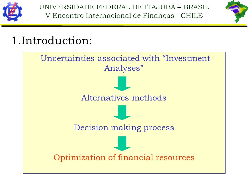 1.Introduction: Uncertainties associated with Investment Analyses