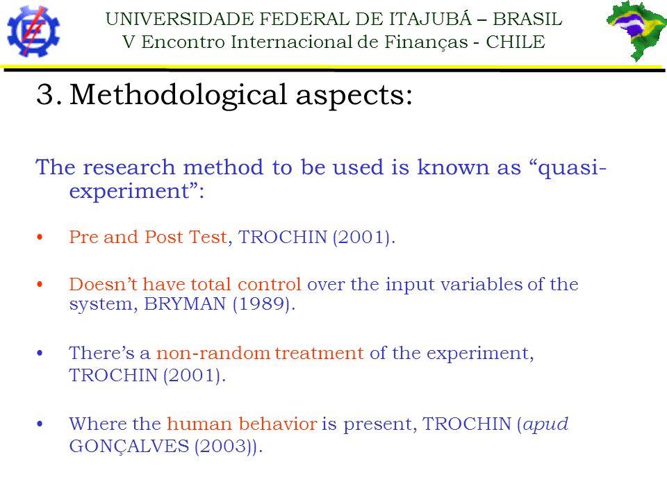 Methodological aspects: