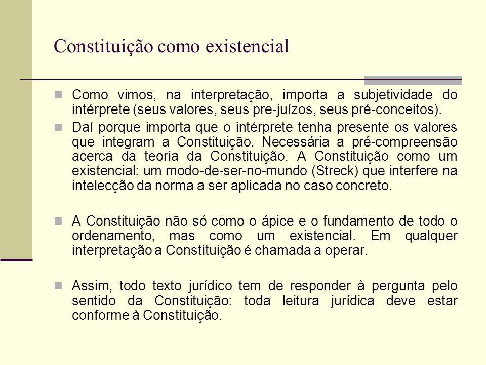 Constituição como existencial