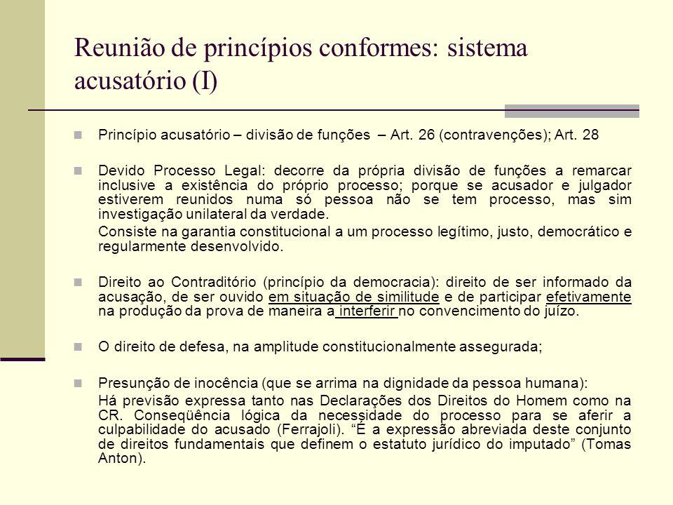 Reunião de princípios conformes: sistema acusatório (I)