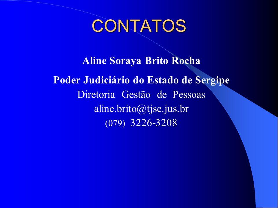 Aline Soraya Brito Rocha Poder Judiciário do Estado de Sergipe