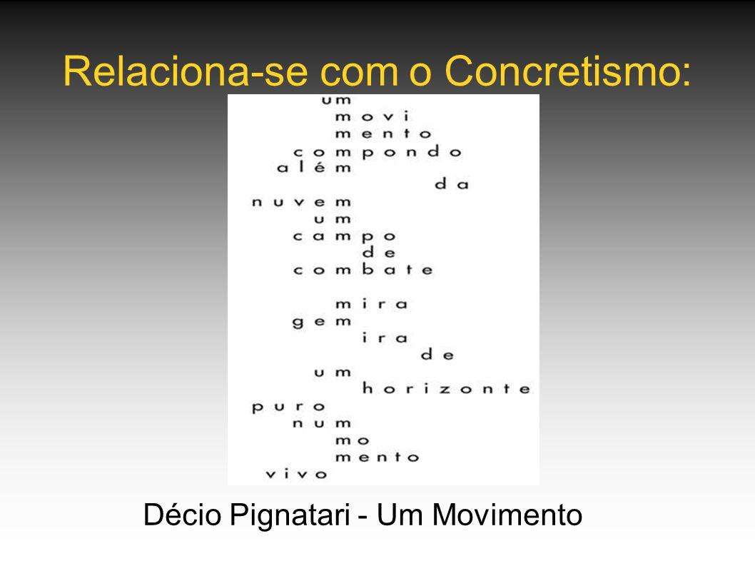 Relaciona-se com o Concretismo:
