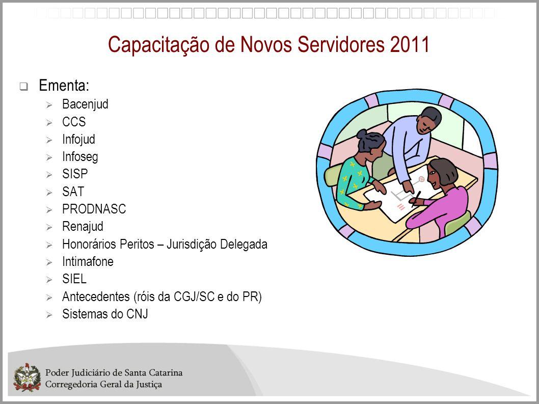 Capacitação de Novos Servidores 2011