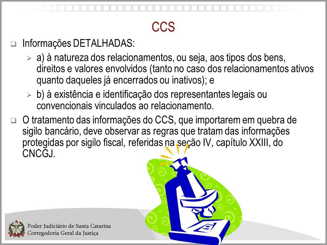 CCS Informações DETALHADAS: