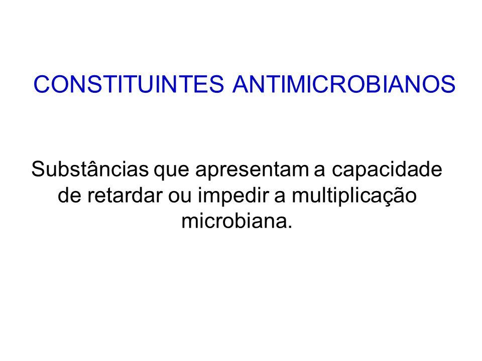 CONSTITUINTES ANTIMICROBIANOS