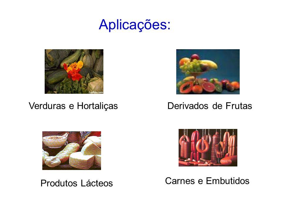 Aplicações: Verduras e Hortaliças Derivados de Frutas